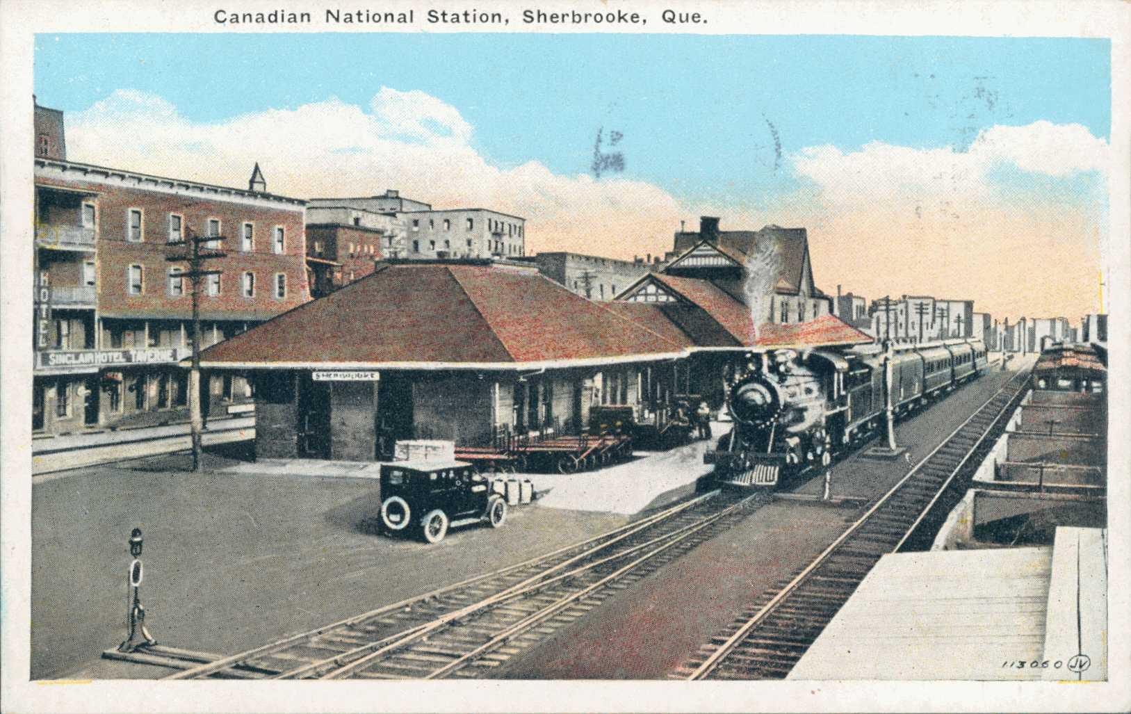 « Station du Canadien National, Sherbrooke, Que. », Fonds Fonds Laurette Cotnoir-Capponi, BAnQ (P186,S9,P361).