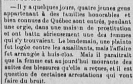 Découverte d'une maison de prostitution (1889)