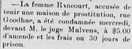 Découverte d'une maison de prostitution (1899)