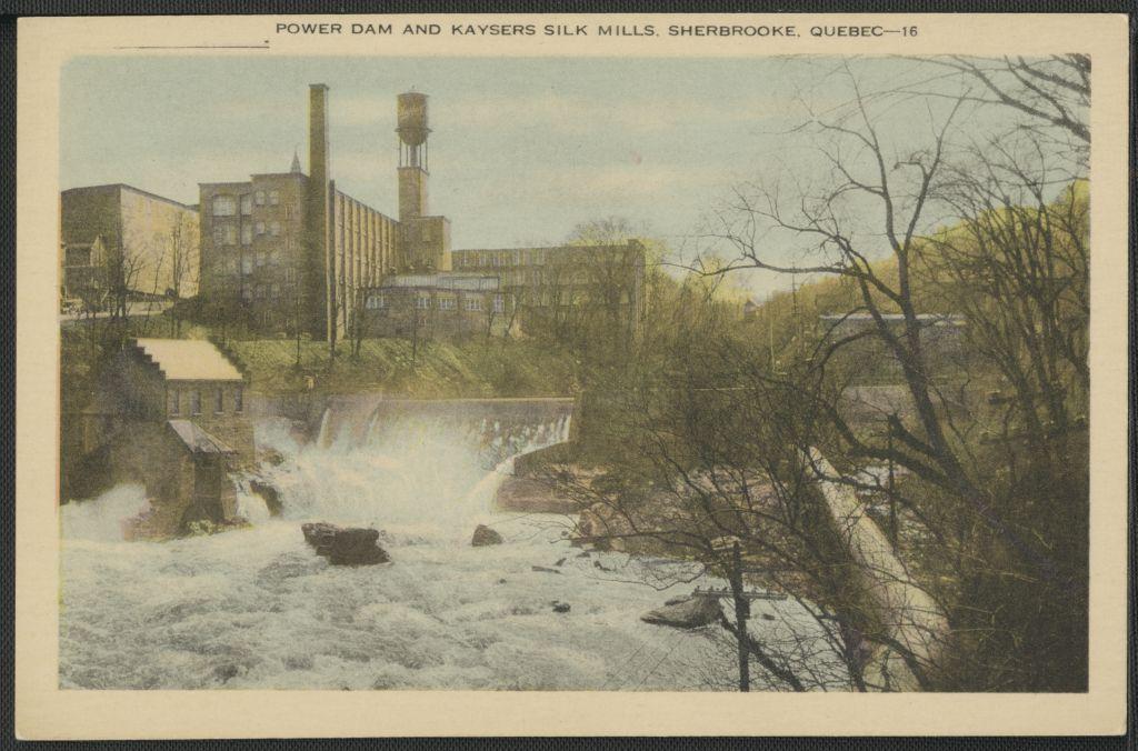 Power dam and Kaysers silk mills, Sherbrooke, Quebec, n°16, BAnQ (4777784).