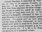 Source: «Nouvelles des Cantons-de-l'Est: Gould». Le Progrès de l'Est: organe des populations des Cantons de l'Est. 5e année, n° 479, 27 juillet 1888, [p. 3].