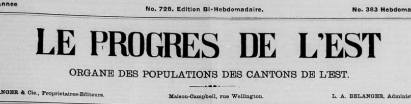 Journal le Progrès de l'Est en 1890